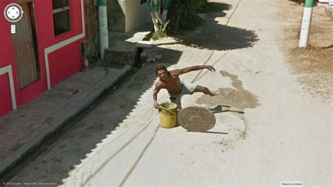 Priceless - Getting captured falling in a manhole via