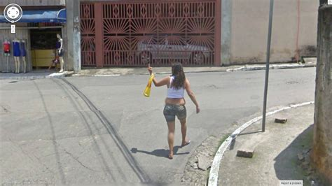 Who is the lady giving the finger to?   Google Street View