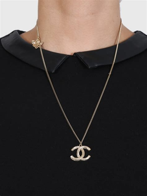 Chanel - Gold Long Logo Necklace | Luxury Bags