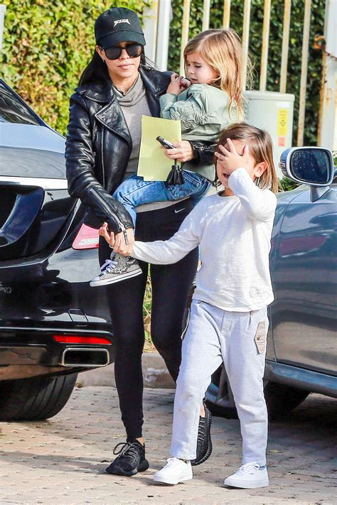 Kourtney Kardashian With Her Children Out in Pacific