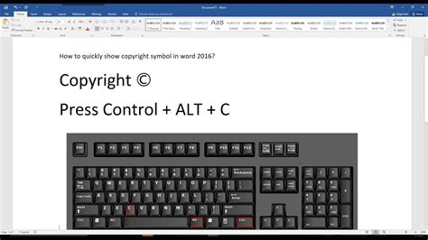 How to quickly type copyright symbol in word 2016