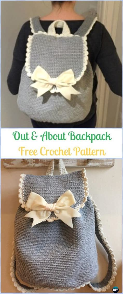Crochet Backpack Free Patterns for Big Kids&Adults