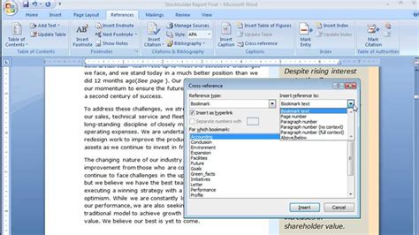 Creating Cross References in Word - YouTube