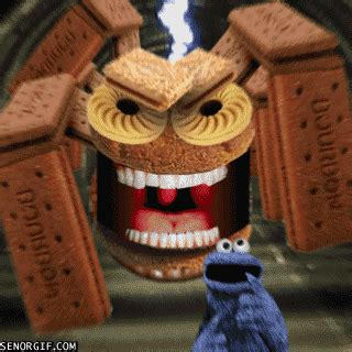 New trending GIF tagged scared running cookie monster