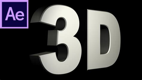 After Effects Tutorial: CS6 New 3D Text Extrusion -HD
