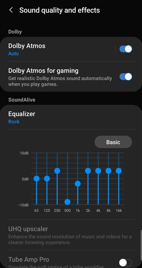 What's the best equalizer settings for Samsung music