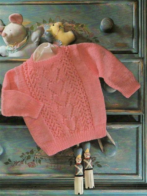 Vintage Baby Knitting Pattern / Sweetheart sweater / Baby