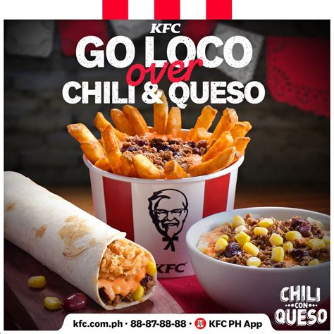KFC Now Has Cheesy Chili Con Famous Bowl and Twister