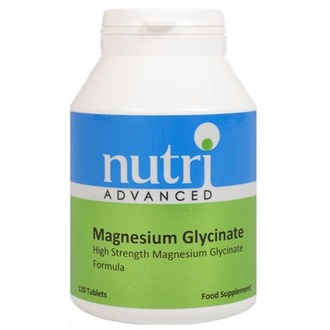 Magnesium Glycinate - 120 Tablets by Nutri Advanced